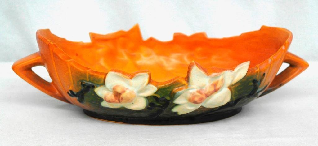 Roseville Pottery Magnolia Console Bowl