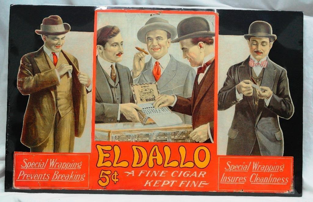 1930s El Dallo Cigar Tri-Fold Poster - Never Folded