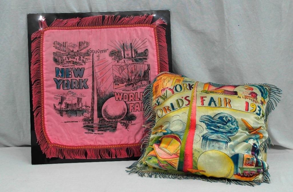 1939 New York World's Fair - Two Different Pillow Shams