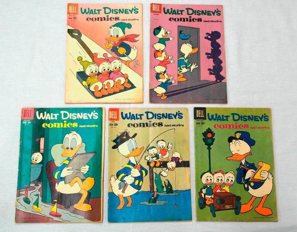 5 Walt Disney's Comics Featuring Donald Duck on Covers