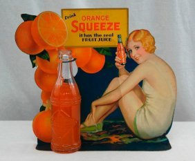 Orange Squeeze Bottle Topper With Bottle