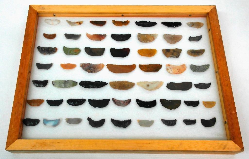 Paleo Crescents From SE Oregon - 50 Pieces Framed