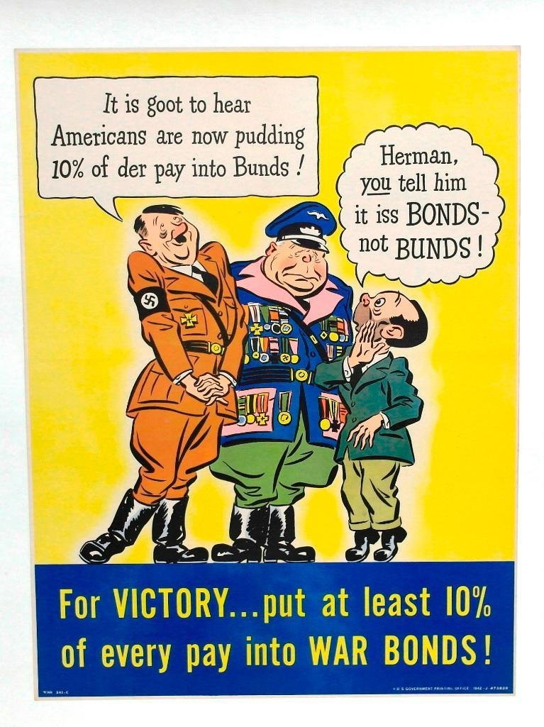 """For Victory"" Buy War Bonds Poster"