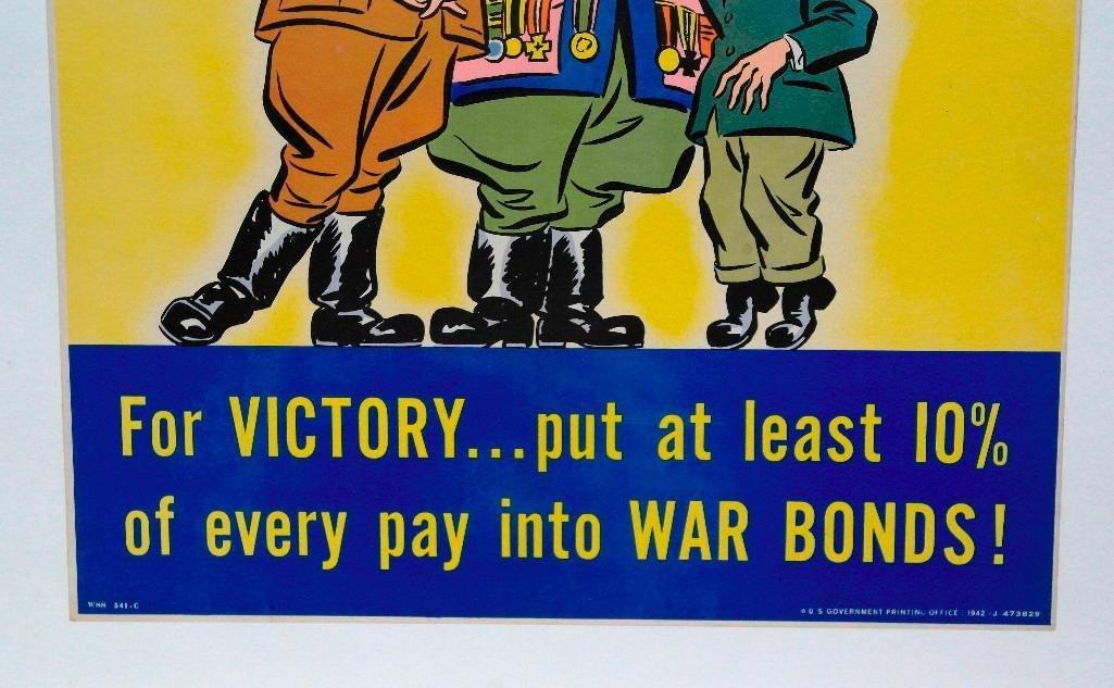 """For Victory"" Buy War Bonds Poster - 3"