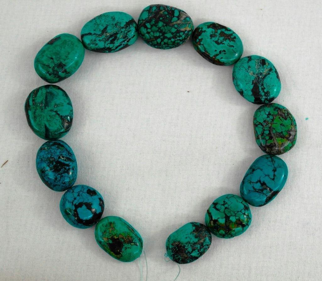 13 Large Turquoise Beads