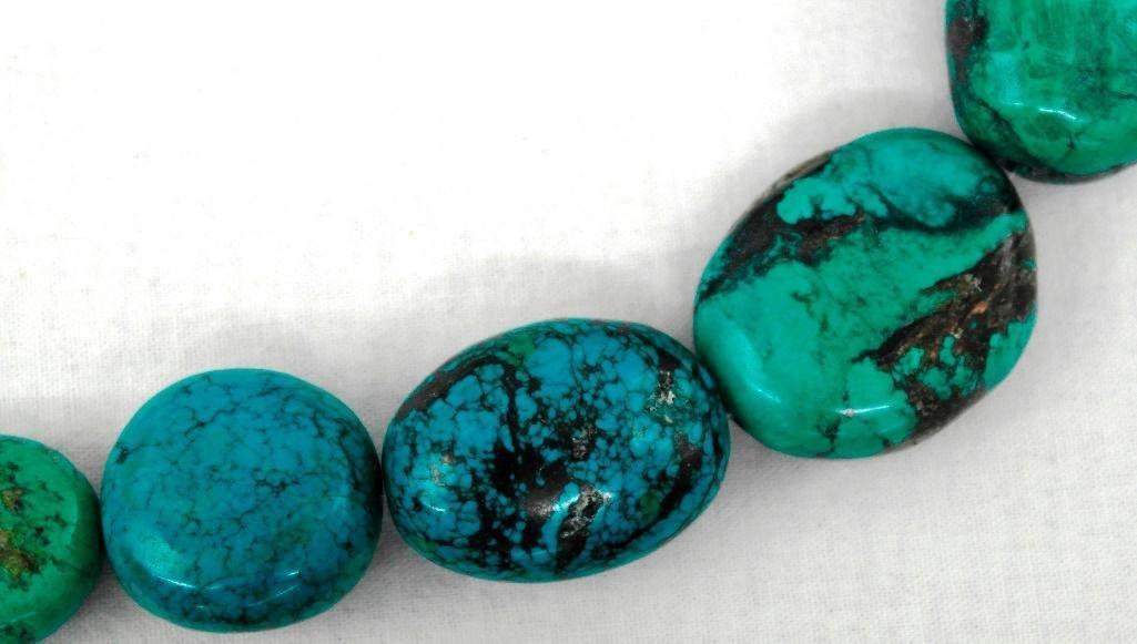 13 Large Turquoise Beads - 3