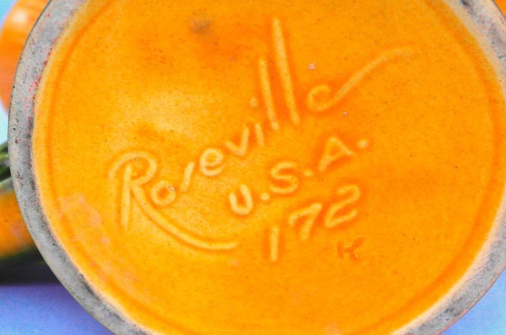 Roseville Peony Cornucopia Vase - 6