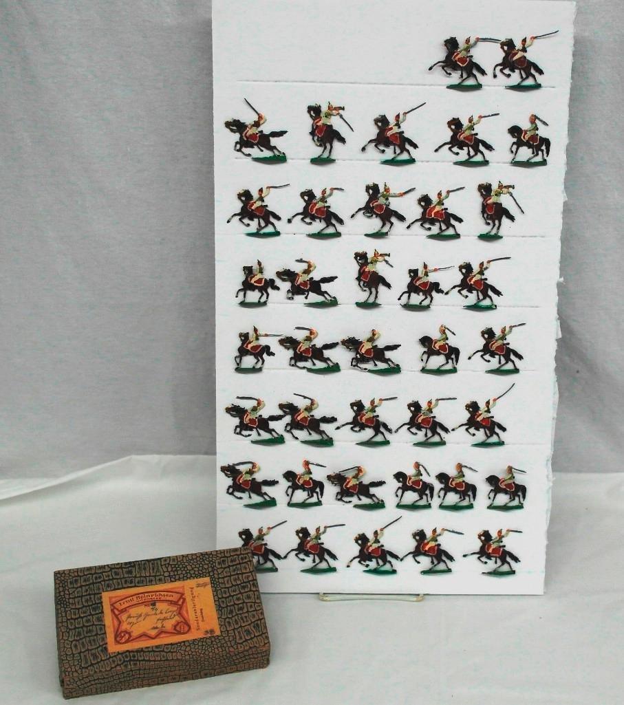 Set of 38 Zinnsoldaten Mounted Figures