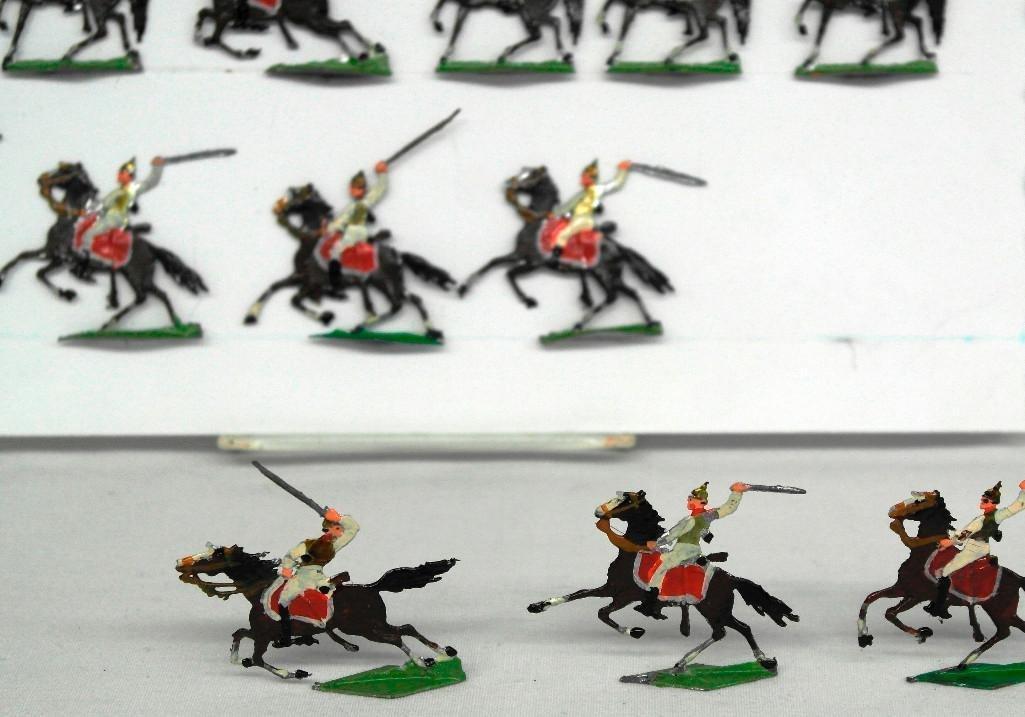 Set of 38 Zinnsoldaten Mounted Figures - 3