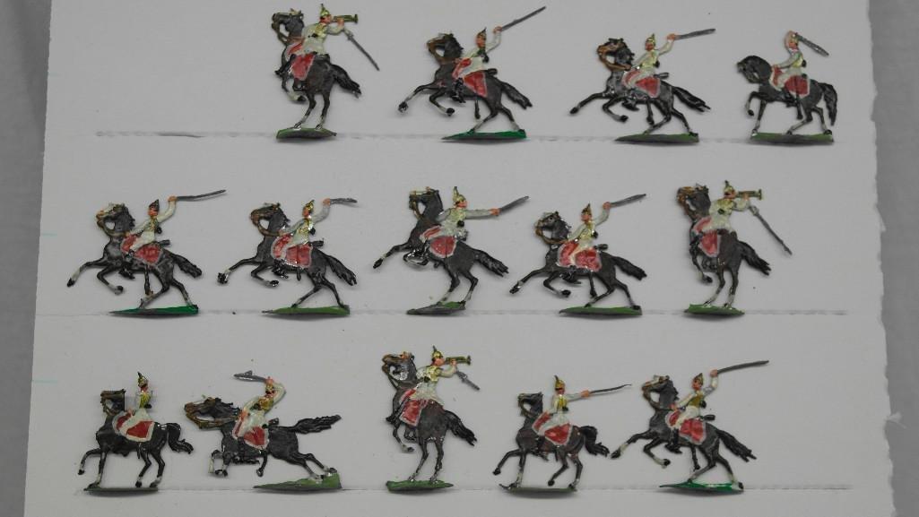 Set of 38 Zinnsoldaten Mounted Figures - 5