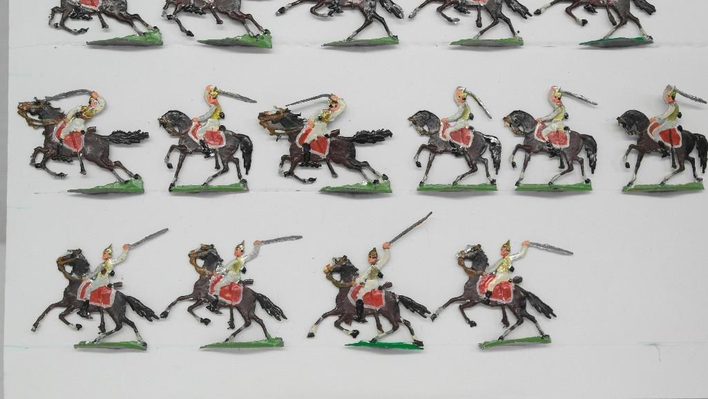 Set of 38 Zinnsoldaten Mounted Figures - 6