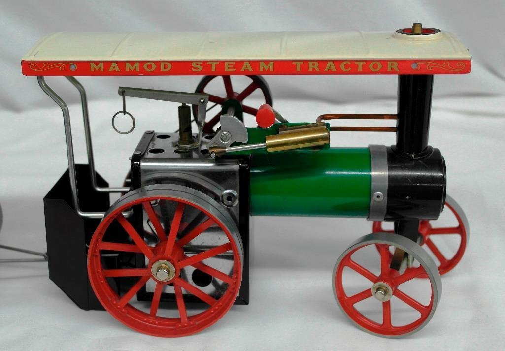 Vintage Mamod Steam Tractor Toy With Open Wagon - 3