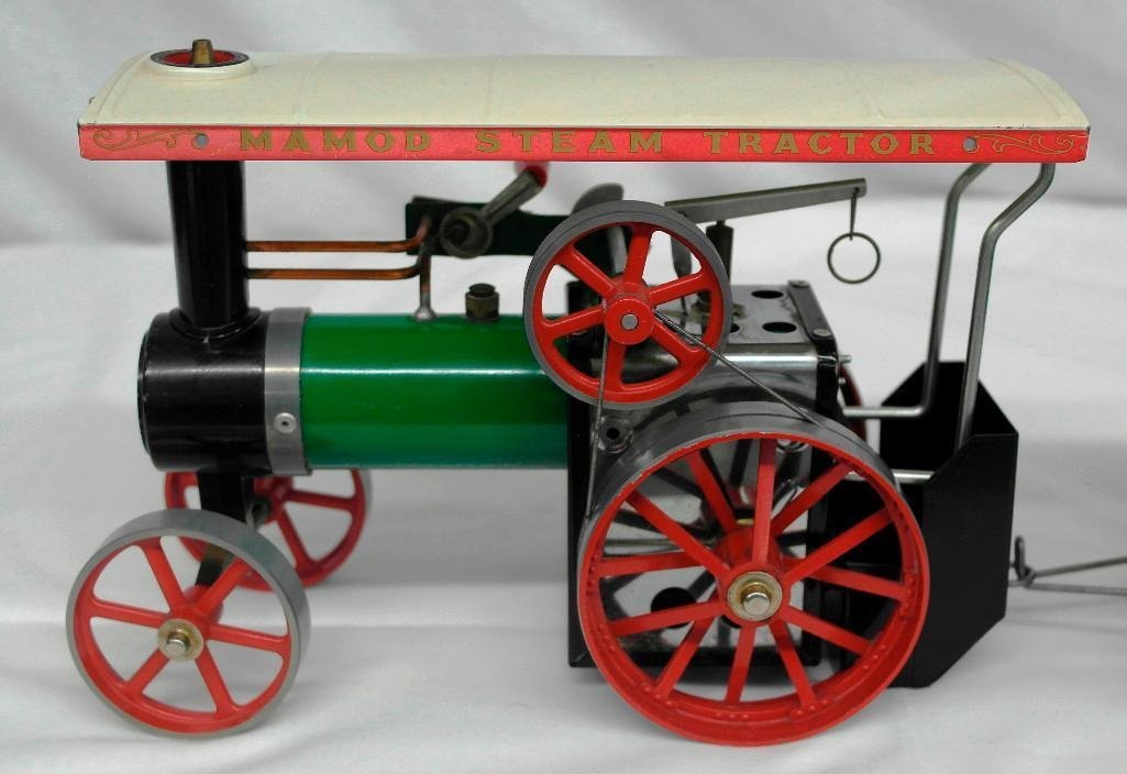Vintage Mamod Steam Tractor Toy With Open Wagon - 4