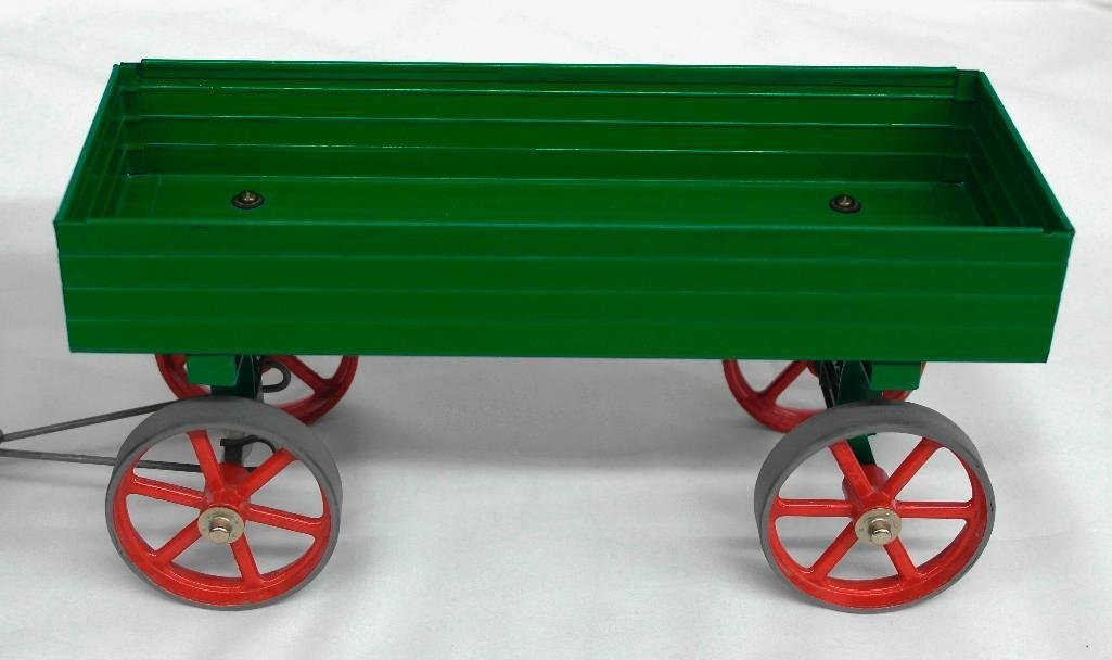 Vintage Mamod Steam Tractor Toy With Open Wagon - 5