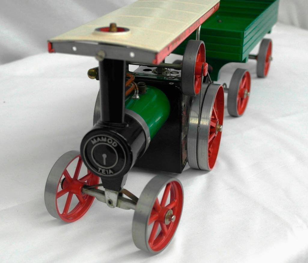 Vintage Mamod Steam Tractor Toy With Open Wagon - 6