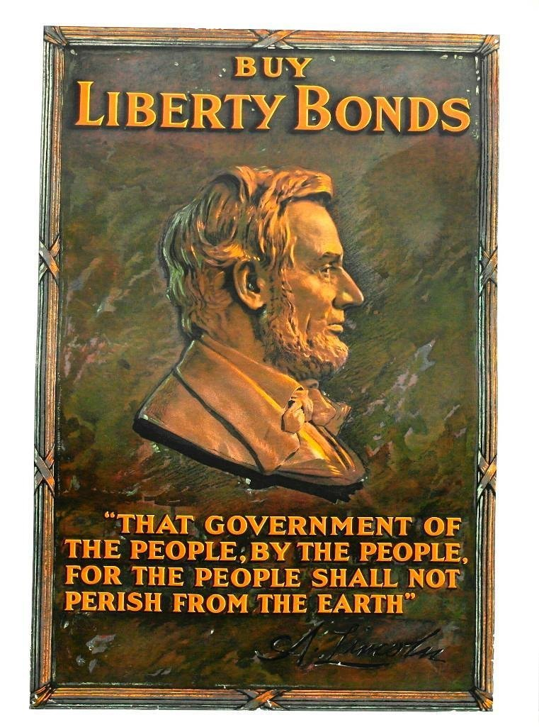 """Buy Liberty Bonds"" Poster With Abraham Lincoln"