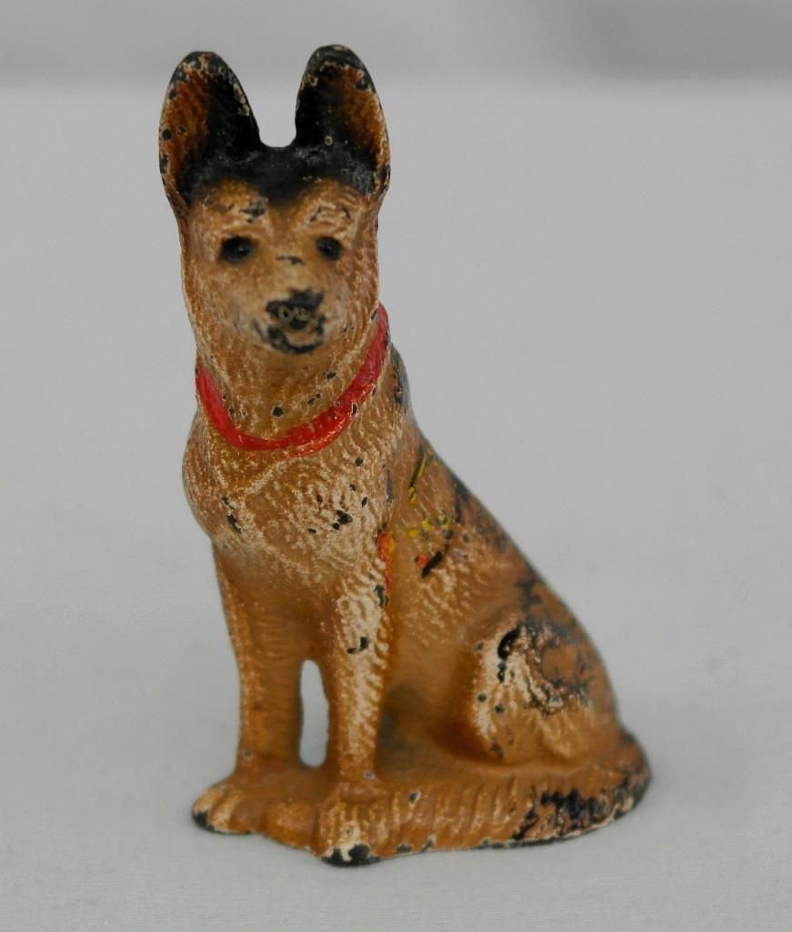 Vintage Hubley German Shepherd Paperweight/Figurine