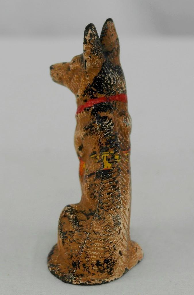 Vintage Hubley German Shepherd Paperweight/Figurine - 3
