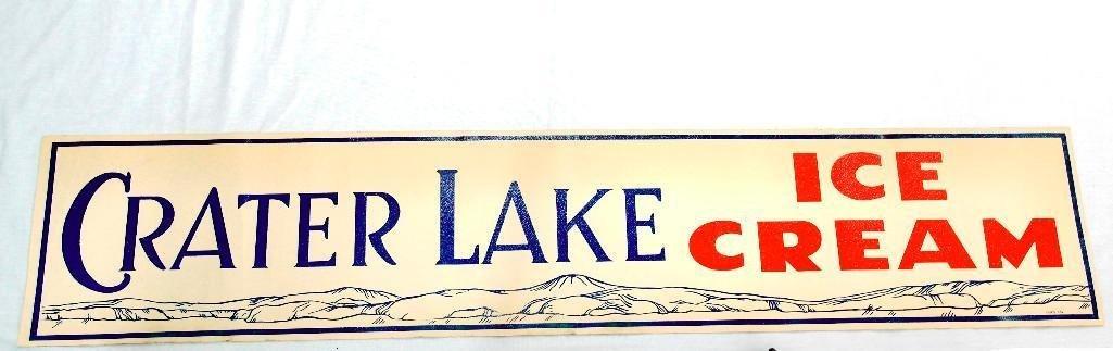 Crater Lake Creamery Ice Cream Banner