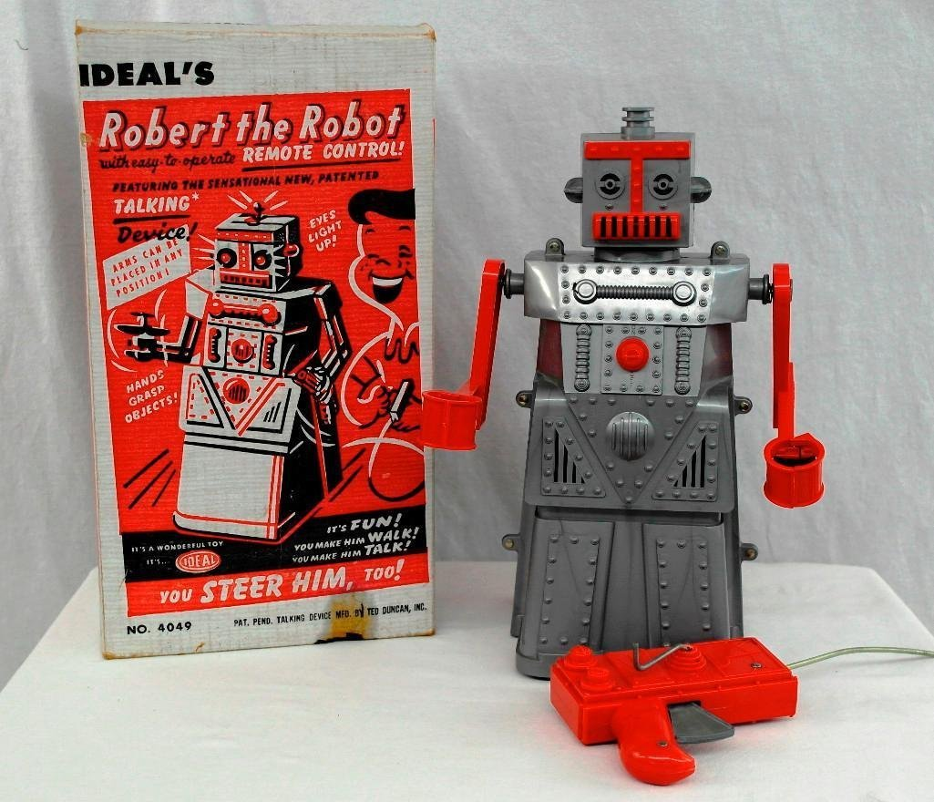 """1950's """"Robert The Robot"""" Remote Control Robot With"""