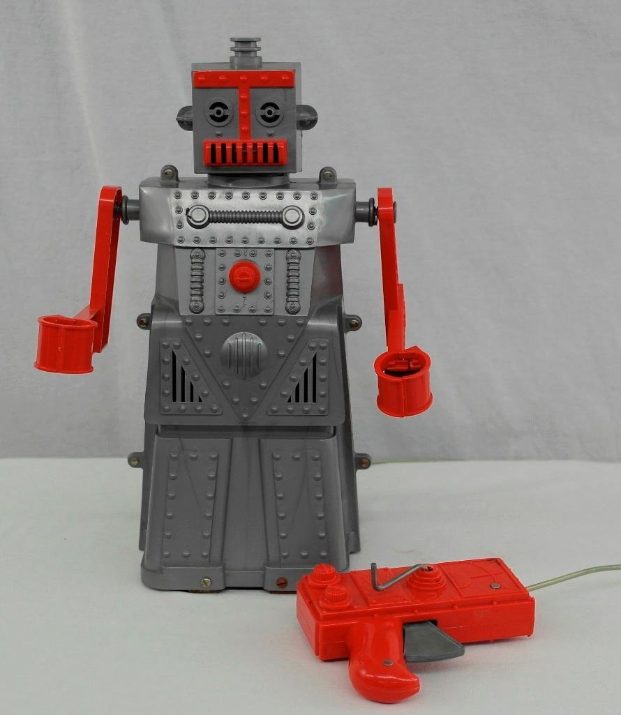 """1950's """"Robert The Robot"""" Remote Control Robot With - 2"""
