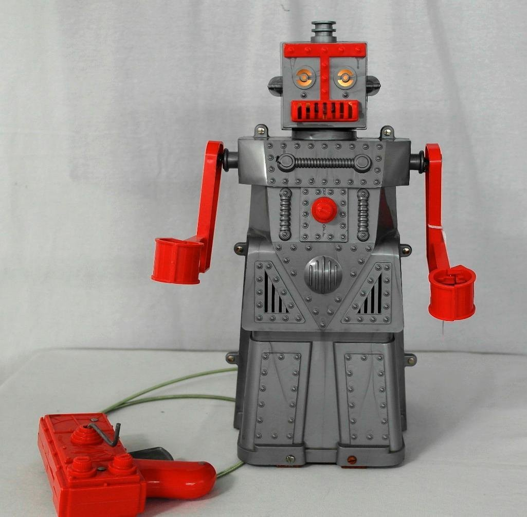 """1950's """"Robert The Robot"""" Remote Control Robot With - 7"""
