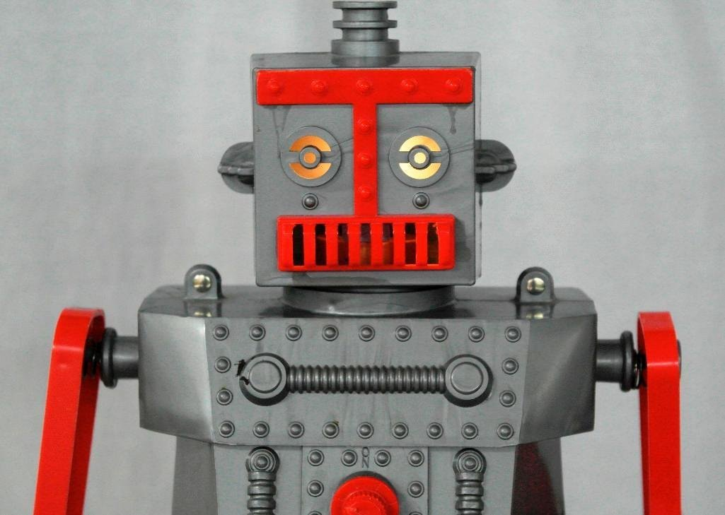 """1950's """"Robert The Robot"""" Remote Control Robot With - 8"""
