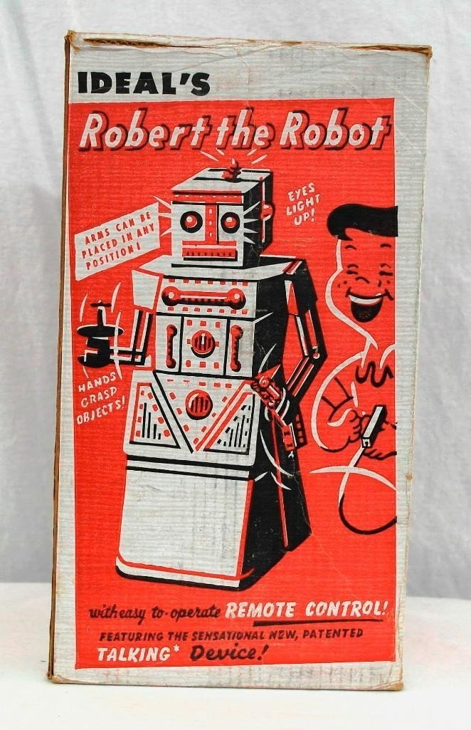 """1950's """"Robert The Robot"""" Remote Control Robot With - 9"""