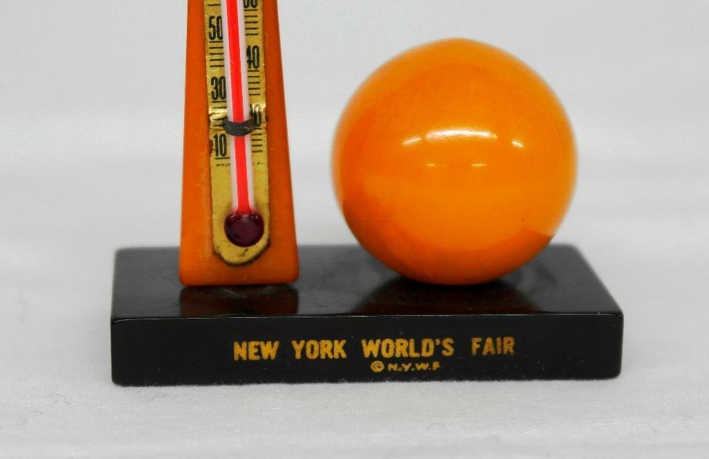 2 New York World's Fair Souvenir Thermometers - 4