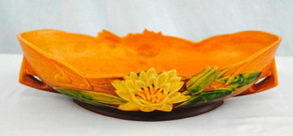 Roseville Pottery Water Lily Console Bowl