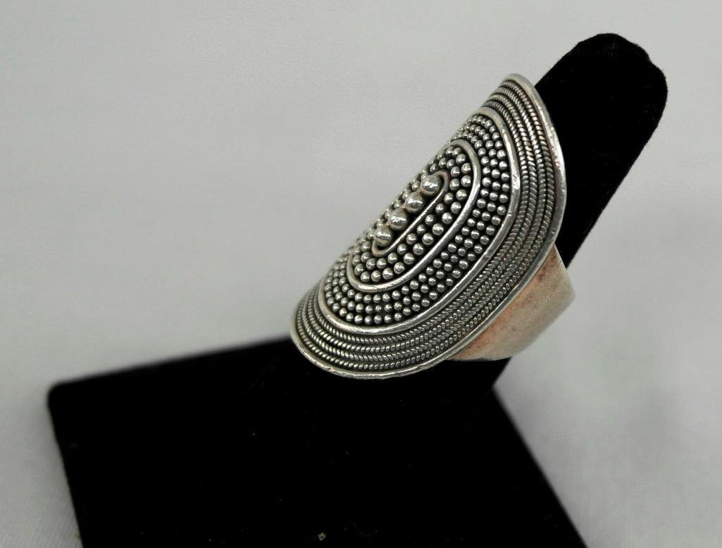 Large Sterling Silver Ring - 2
