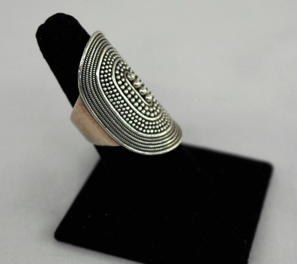Large Sterling Silver Ring - 3