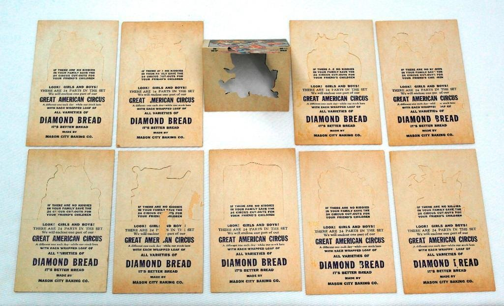 Set of 10 Different Diamond Bread Punch-Out Cards - 2