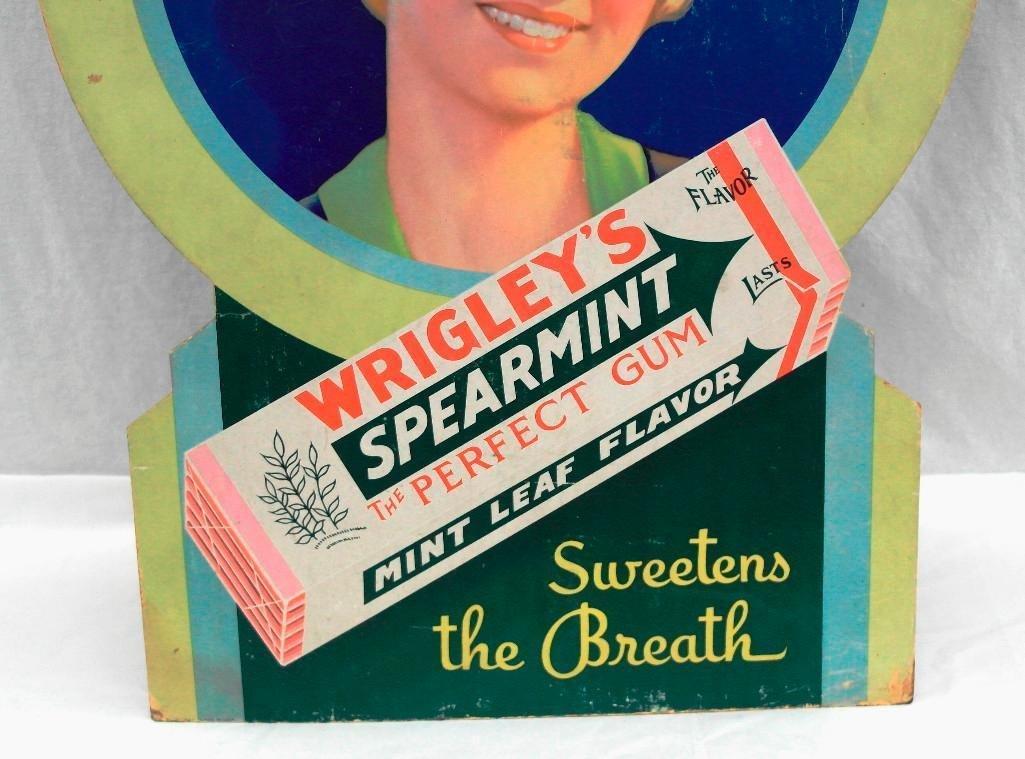 Wrigley's Spearmint Gum Die Cut Cardboard Sign - 3
