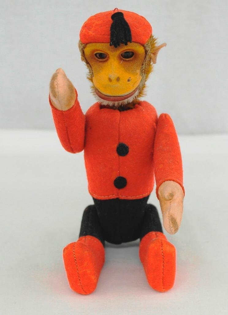 1920's Schuco Yes-No Monkey With Moveable Joints