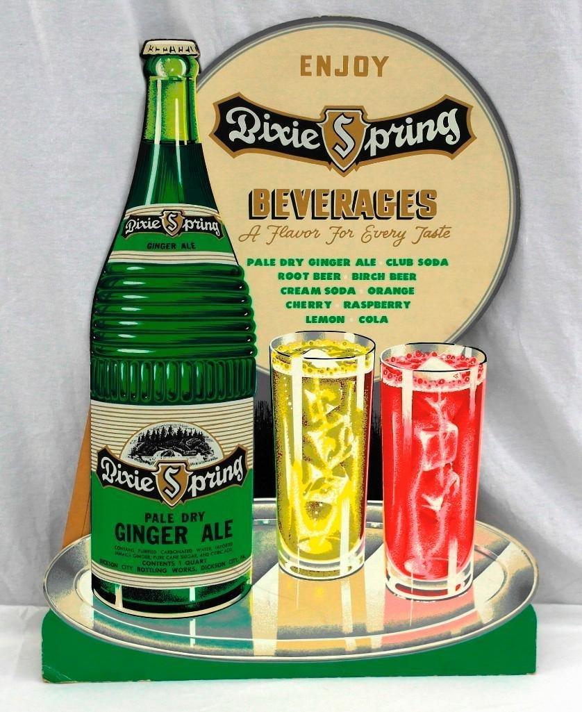 Vintage Dixie Spring Beverages Easel Back Cardboard