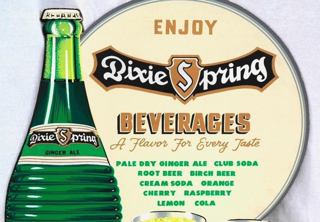 Vintage Dixie Spring Beverages Easel Back Cardboard - 2