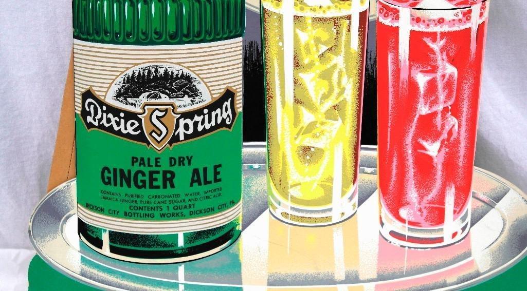 Vintage Dixie Spring Beverages Easel Back Cardboard - 3