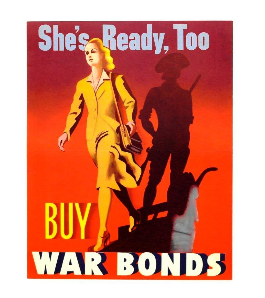 "WWII Era ""Buy War Bonds"" Poster"