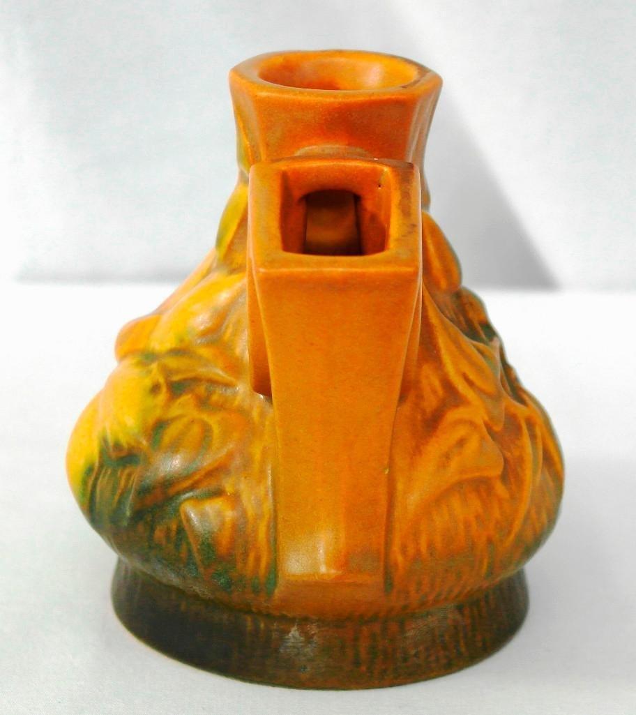 Roseville Clematis Flower Frog vase - 2