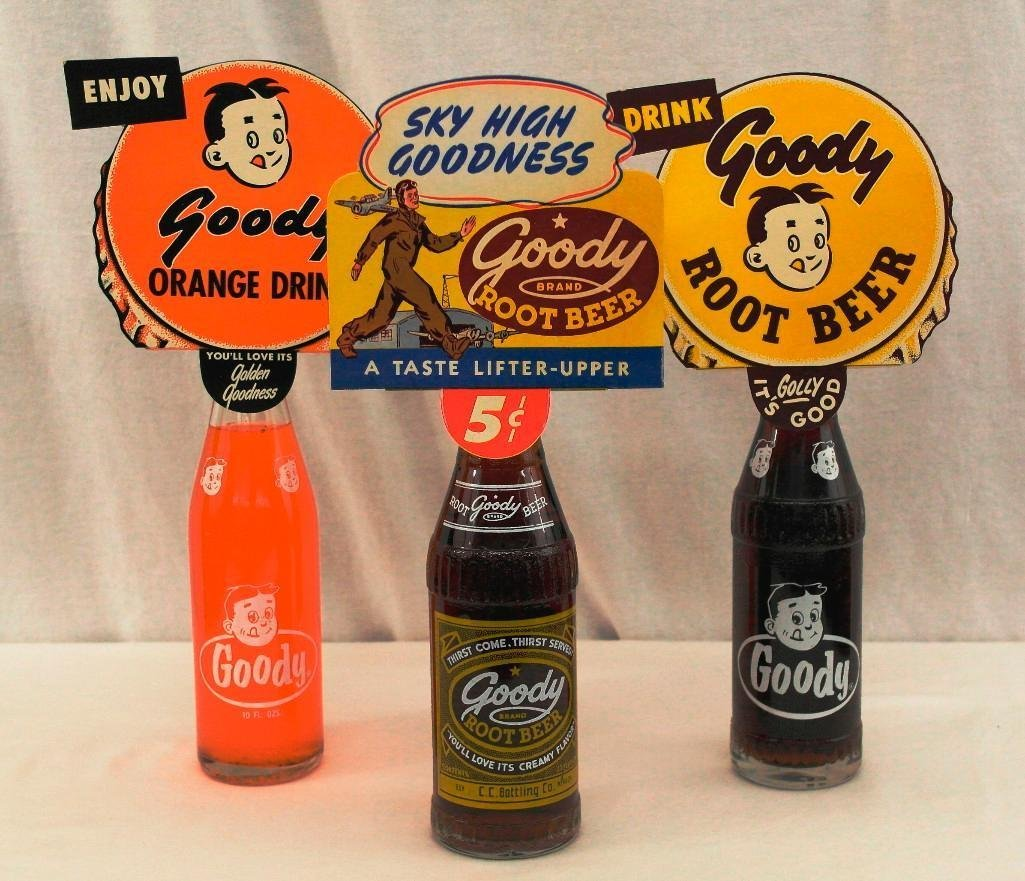 3 Goody Soda Bottles With Toppers