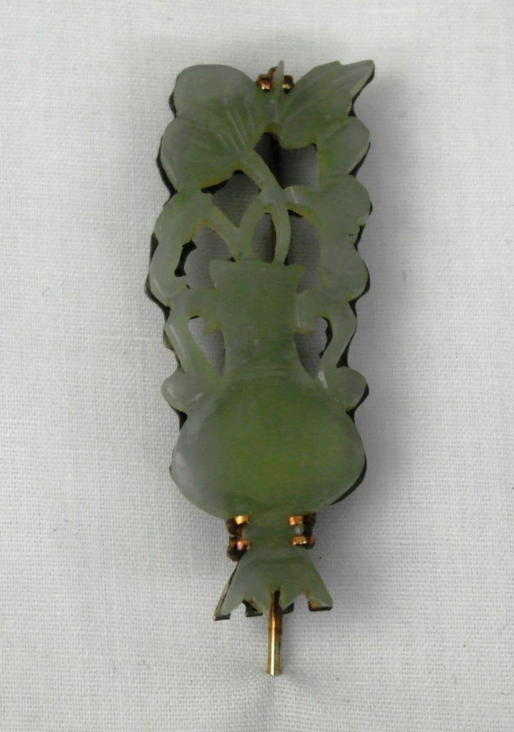 Carved Jade Stick Pin