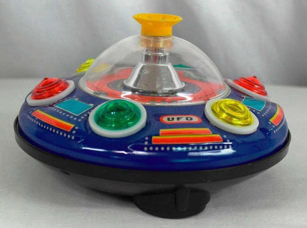 UFO Tin Litho Toy - Super Blowing Ball Series II - 2