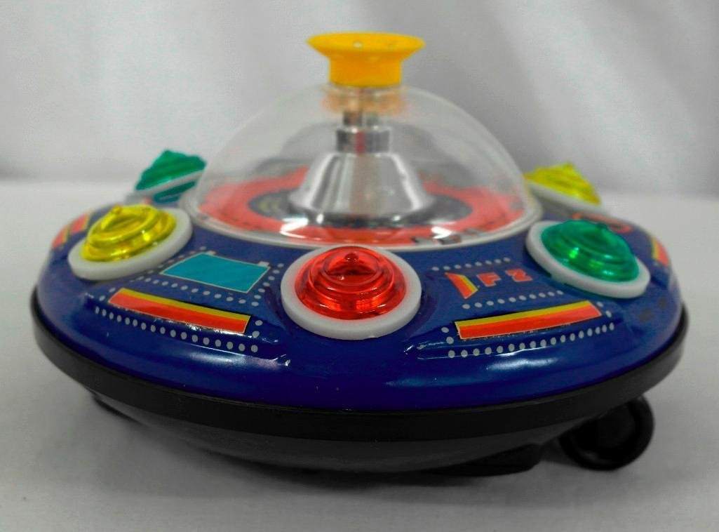 UFO Tin Litho Toy - Super Blowing Ball Series II - 3