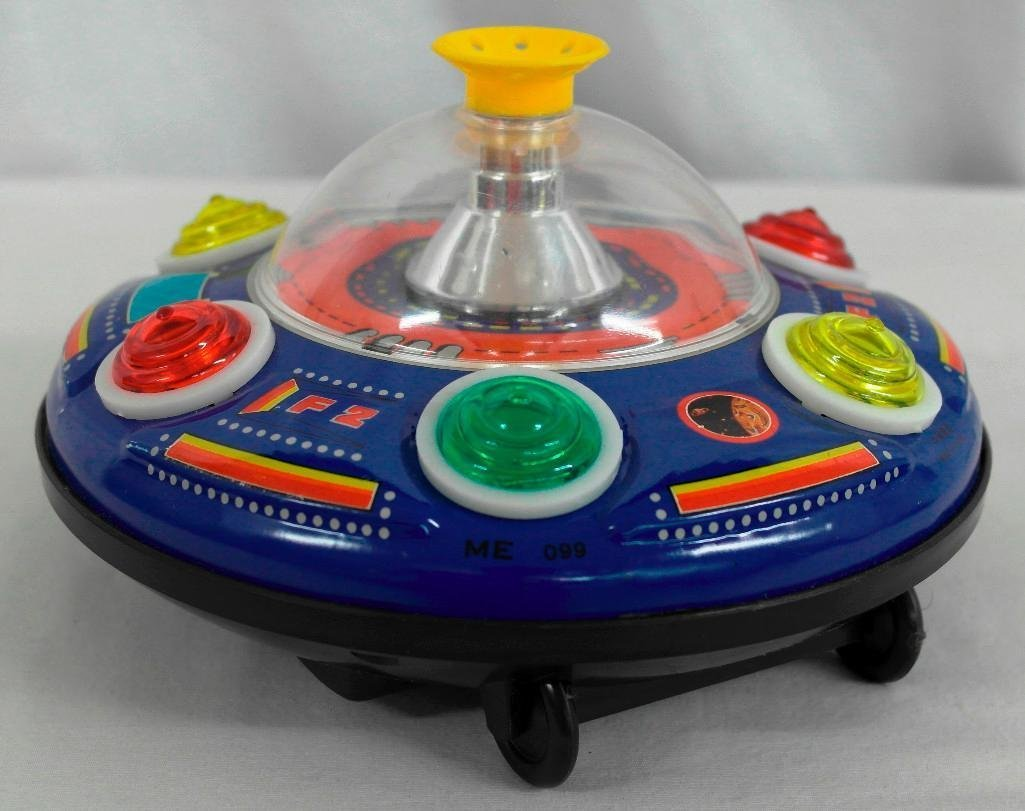 UFO Tin Litho Toy - Super Blowing Ball Series II - 4