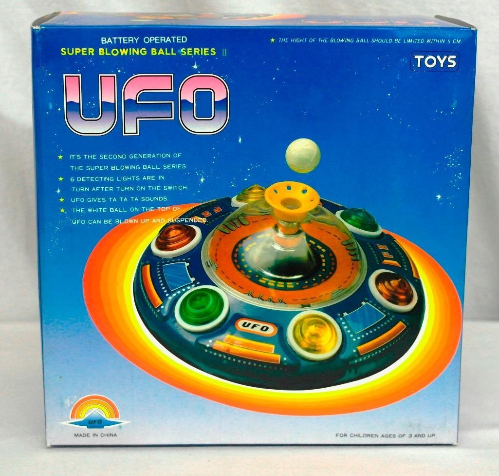 UFO Tin Litho Toy - Super Blowing Ball Series II - 5