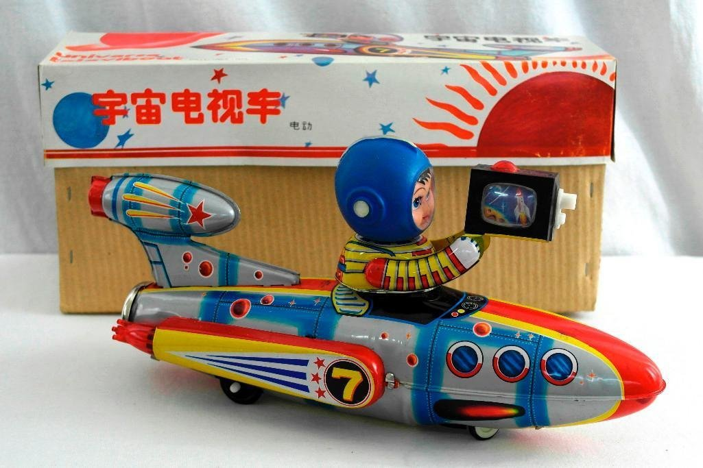 Universe Televiboat Tin Litho and Rubber Toy - ME 777