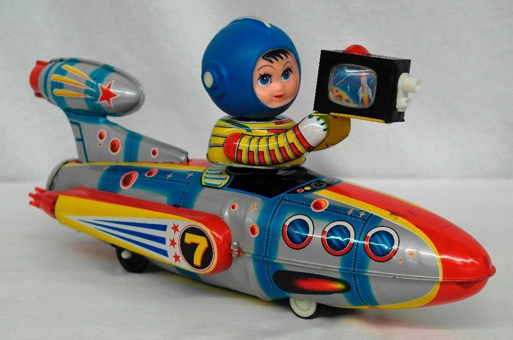 Universe Televiboat Tin Litho and Rubber Toy - ME 777 - 2