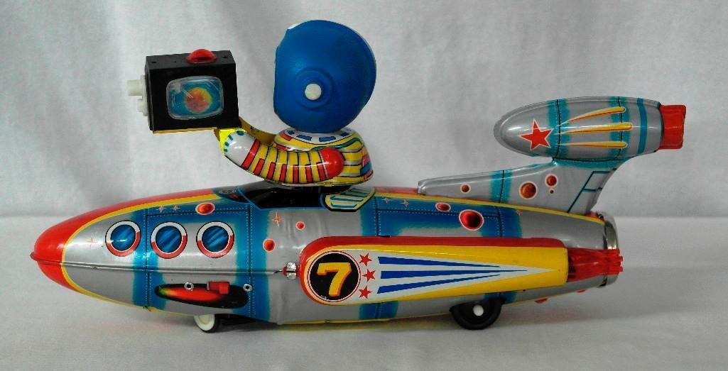 Universe Televiboat Tin Litho and Rubber Toy - ME 777 - 4