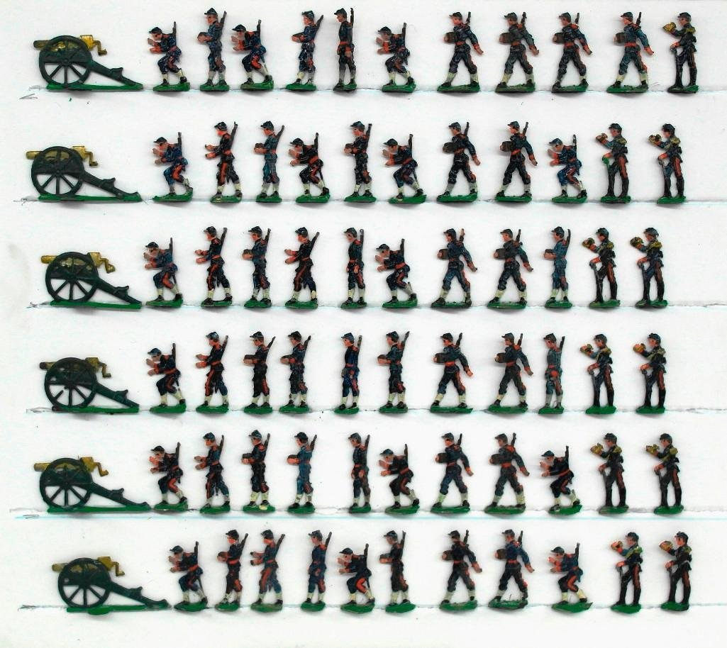Set Of 72 Heinrischen French Field Artillery Soldiers